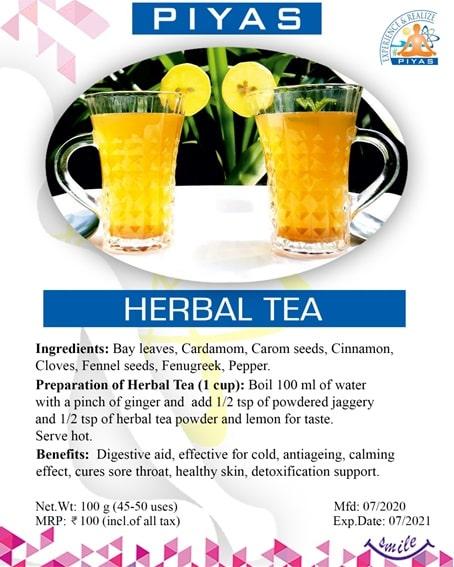 Products - Herbal Tea
